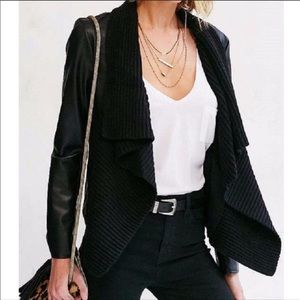 BB Dakota Black Faux Leather Sarafina Jacket